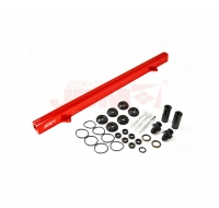 JDM SPORT NISSAN RB25 RED FUEL RAIL WITH BLACK FITTINGS