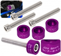 JDM SPORT PURPLE B SERIES DISTRIBUTOR CAM CAP WASHER KITS