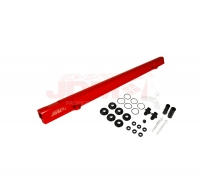 JDM SPORT TOYOTA 2JZ RED FUEL RAIL WITH BLACK FITTINGS