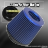 3 inch Universal Filter Blue Top / Blue Body / Black Bottom