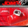 """JDM Sport Red Universal Type RS/RZ/R 2.5"""" Silicone Adapter Coupler"""