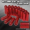 M12 x 1.5MM UNIVERSAL THREAD PITCH LUG NUTS RED - 20 PIECES