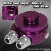 OIL COOLER ADAPTER / RELOCATER KIT PURPLE - 10AN FITTING