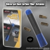"UNIVERSAL 3"" CARBON FIBER RADIO FREQUENCY SCREW ON TYPE REAR ALUMINUM ANTENNA BLUE"