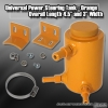 UNIVERSAL POWER STEERING RESERVOIR TANK ORANGE