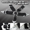 UNIVERSAL QUICK RELEASE 5 POINT CAMLOCK RACING SEAT BELT BLACK W/ QUICK SNAP EYE BOLTS