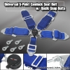 UNIVERSAL QUICK RELEASE 5 POINT CAMLOCK RACING SEAT BELT BLUE W/ QUICK SNAP EYE BOLTS