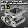 Universal Stainless Steel Adapter Flange for T25/T28 to T3/T4 Turbo with 35/38mm External Wastegate Adapter