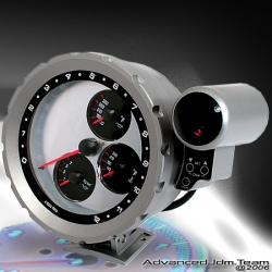 Universal Type JDM Racing Designed All in One Tachometer Silver