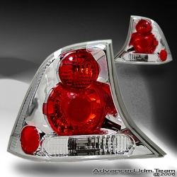 00 01 02 03 04 FORD FOCUS ALTEZZA TAIL LIGHTS 4 DOOR CHROME