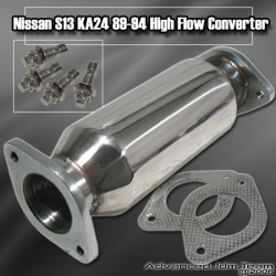 89 90 91 92 93 94 95 96 97 98 NISSAN 240SX S13 / S14 HIGH FLOW TEST PIPE / CAT DELETE / CONVERTER 2.75 INCH