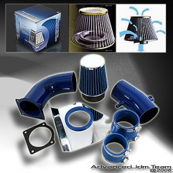 94 95 FORD MUSTANG V8 5.0L COLD AIR INTAKE BLUE