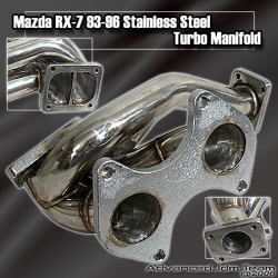 93 94 95 96 MAZDA RX7 RX-7 STAINLESS STEEL TURBO MANIFOLD
