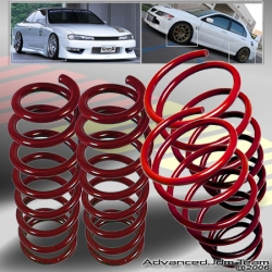 79 80 81 82 83 84 85 86 87 88 89 90 91 92 93  FORD FOX BODY MUSTANG LOWERING SPRINGS Red