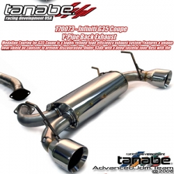 03 04 05 06 07 INFINITI G35 COUPE TANABE Medallion TOURING CATBACK EXHAUST SYSTEM