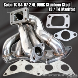 05 06 07 08 SCION TC DOHC 2AZ-FE / CAMRY / SOLARA STAINLESS STEEL T3/T4 TURBO MANIFOLD