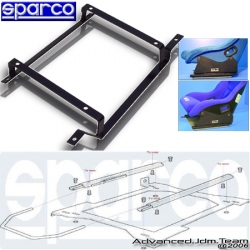 BMW E46 COUPE 00 01 02 03 04 DRIVER SIDE SPARCO RACING FLAT SEAT BASE