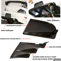 100% Brand New and Never Used.  Fitment: 03-05 Mitsubishi Lancer EVO 8APR Carbon Fiber Rear Diffuser
