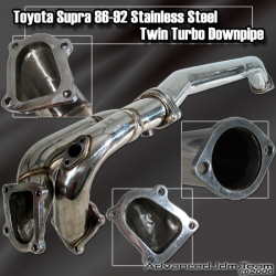 86 87 89 90 91 92 TOYOTA SUPRA 1JZGTE STAINLESS STEEL TURBO DOWNPIPE