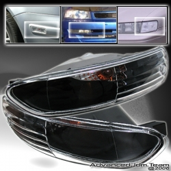 03 04 05 MITSUBISHI ECLIPSE FRONT BUMPER LIGHTS BLACK HOUSING