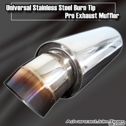 UNIVERSAL STAINLESS STEEL BURN TIP PRO EXHAUST MUFFER