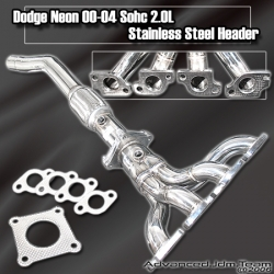 00 01 02 03 04 DODGE NEON SOHC 2.0L STAINLESS STEEL HEADER