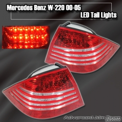 00 01 02 03 04 05 MERCEDES BENZ W220 LED TAIL LIGHTS RED AND CLEAR