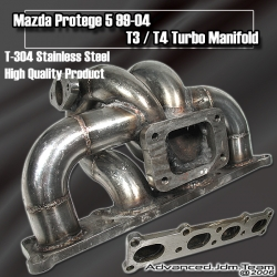99 00 01 02 03 04 MAZDA PROTEGE 5 T3/T4 STAINLESS STEEL TURBO MANIFOLD