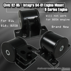 92 93 94 95 HONDA CIVIC JDM SPORTS B-SERIES ENGINE MOUNT KIT 5 SPEED ONLY