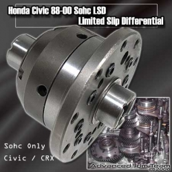 HONDA CIVIC /CRX 88 89 90 91 92 93 94 95 96 97 98 99 00 SOHC LIMITED SLIP DIFFERENTIAL LSD