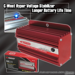 JDM C-WEST HYPER VOLTAGE STABILIZER RED