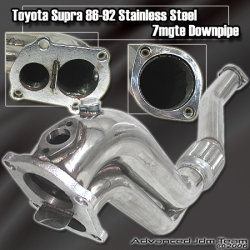 86 87 89 90 91 92 TOYOTA SUPRA 7MGTE STAINLESS STEEL TURBO DOWNPIPE