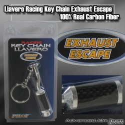 UNIVERSAL CARBON FIBER CAT BACK EXHAUST KEY CHAIN