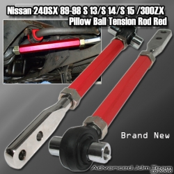 Nissan 240sx S13 / S14 / S15 / 300ZX 89 90 91 92 93 94 95 96 97 98 Pillow Ball Tension Rods Red