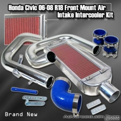 06 07 08 HONDA CIVIC R18 FRONT MOUNT AIR INTAKE INTERCOOLER KIT