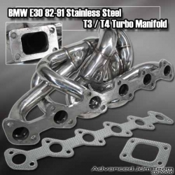BMW E30 82 83 84 85 86 87 88 89 90 91 STAINLESS STEEL TURBO MANIFOLD T3/T4