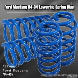 94 95 96 97 98 99 00 01 02 03 04 FORD MUSTANG LOWERING SPRINGS BLUE