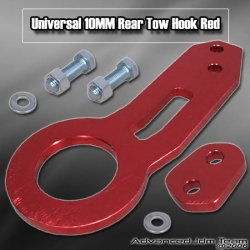 Universal 10mm Rear Tow Hook Kit Red