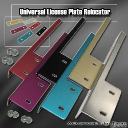 UNIVERSAL LICENSE PLATE RELOCATION KIT GOLD