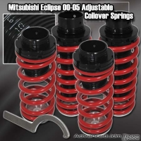 00 01 02 03 04 05 MITSUBISHI ECLIPSE JDM ADJUSTABLE COILOVER LOWERING SPRINGS Red W/ SCALE