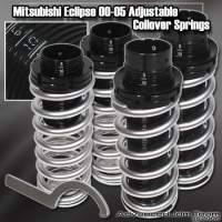 00 01 02 03 04 05 MITSUBISHI ECLIPSE JDM ADJUSTABLE COILOVER LOWERING SPRINGS Chrome W/ SCALE