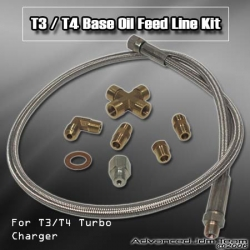 TURBO FEED OIL LINE KIT FOR ALL T3 / T4 BASE