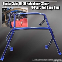 HONDA CIVIC 96 97 98 99 00 HB HATCHBACK 6 POINT ROLL CAGE BLUE