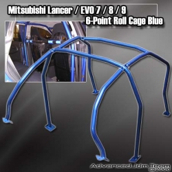 MITSUBISHI LANCER EVO 7 / 8 / 9 6-POINT ROLL CAGE BLUE