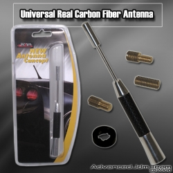 UNIVERSAL CARBON FIBER EXTENDABLE  ANTENNA CHROME
