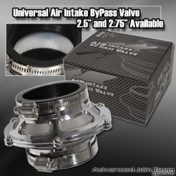 """UNIVERSAL JDM COLD AIR INTAKE 2.5"""" BYPASS VALVE SILVER"""