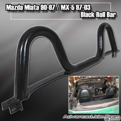 90 91 92 93 94 95 96 97 MAZDA MIATA / 97 98 99 00 01 02 03 MX5 BLACK ROLL BAR