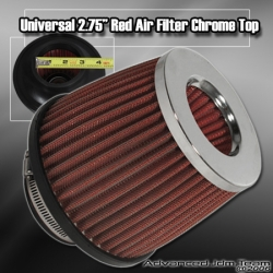 "2.75"" PERFORMANCE RACING INTAKE FILTER RED"