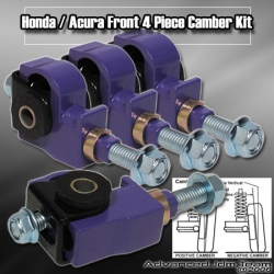 88 89 90 91 92 93 94 95 HONDA CIVIC 4 PIECE FRONT CAMBER KIT PURPLE