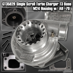 GT3582R/T3 flanged .70AR BUSHING TYPE HYBRID TURBO WITH ANTI SURGE PORTS